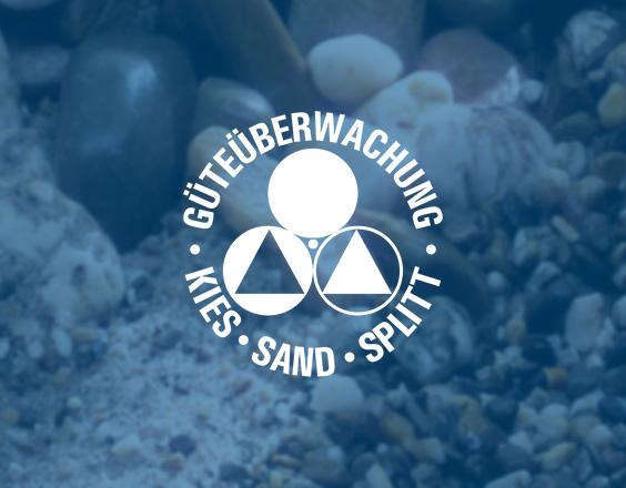 Überwachungszeichen   Güteüberwachung – Kies Sand Splitt