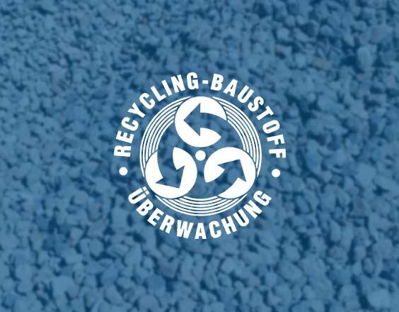 Überwachungszeichen   Überwachung von Recycling-Baustoffen